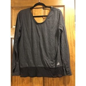 Dark gray, adidas lounge/work out top
